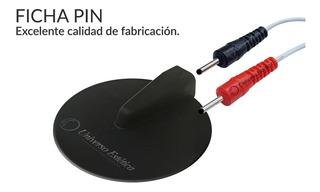 2 Electrodos De Goma Electroestimulacion Ficha Pin De 5cm