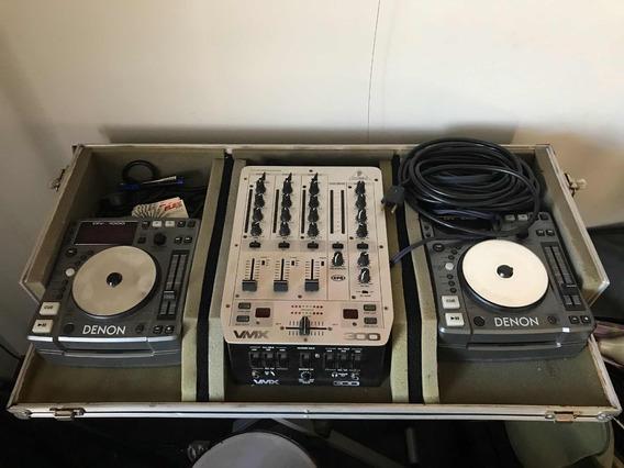 Conjunto Cdjs Denon Dn-s1000 E Mixer Vmx 300 Behringer