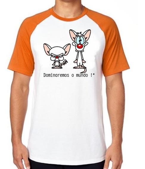 Camiseta Luxo Pink E O Cérebro Ratos Desenho Antigo Cartoon