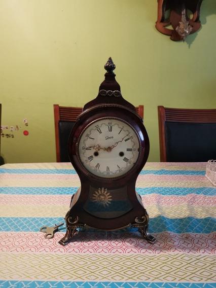 Antiguo Reloj De Mesa Alemán Marca Gewes