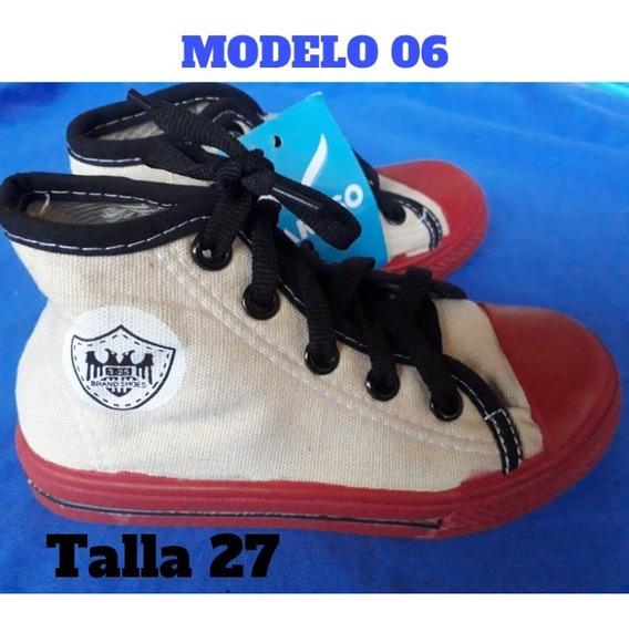 Zapatos Tipo Converse Botin Para Niño/ Caruso/ 3v
