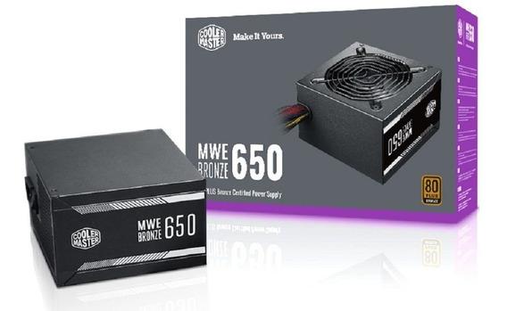 Fonte Cooler Master Mwe 650w 80plus Bronze Mpx-6501-acaab-wo