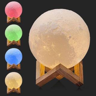 Luminária Abajur Lua Cheia 3d Touch A Maior