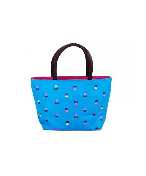 Mini Bolsa De Mão Feminina Azul Oumai