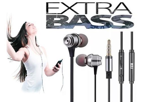 Fone De Ouvido Com Microfone Extrabass Subwoofer In-ear Novo