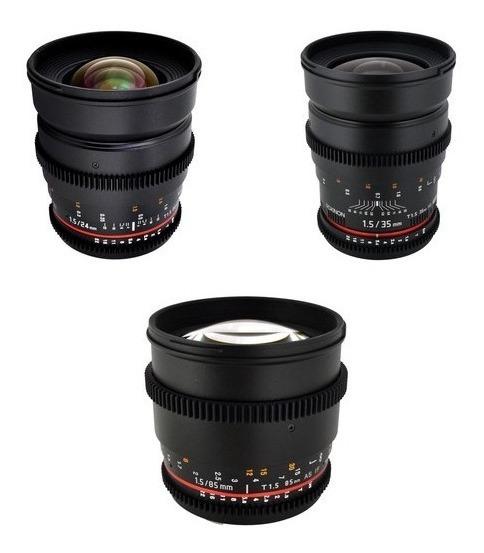 Kit Rokinon Cine 24mm 85mm 35mm Canon Ef-mount Sale