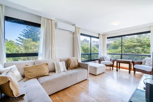Moderno Apartamento En Alquiler De Tres Dormitorios En Primera Linea, Playa Brava- Ref: 30122