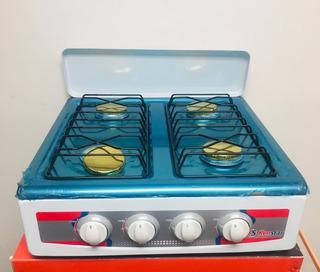 Cocina A Gas 4 Hornillas De Sobremesa Marca Kenstar