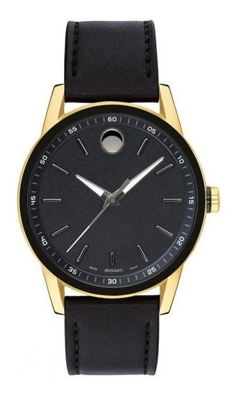 Reloj Movado 607223 Cuero Negro Hombre