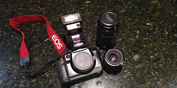 Conjunto Completo Camera Fotográfica Canon Eos 5 Analógica