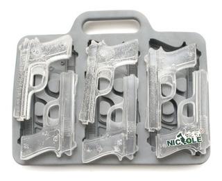 Molde Para Hielos Con Forma De Pistola Escuadra 9mm
