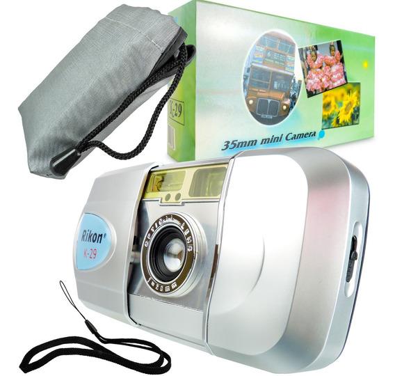 Máquina Fotográfica De Filmes Câmera Analógica 35 Mm Rikon