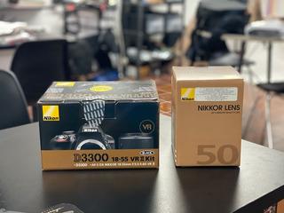 Nikon D3300 + 50mm 1.8 + 18-55   Solo 7000 Disparos