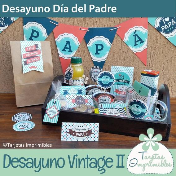 Kit Imprimible Desayuno Personalizado Dia Del Padre V2