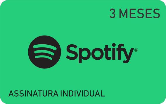 Cartão Pré Pago Spotify 3 Meses Assinatura Spotify Premium