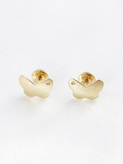 Vivara Brincos Borboleta De Ouro Amarelo Com Diamantes