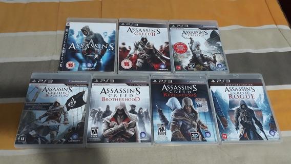 Coleção Assassins Creed 7 Jogos - Ps3 [usado]