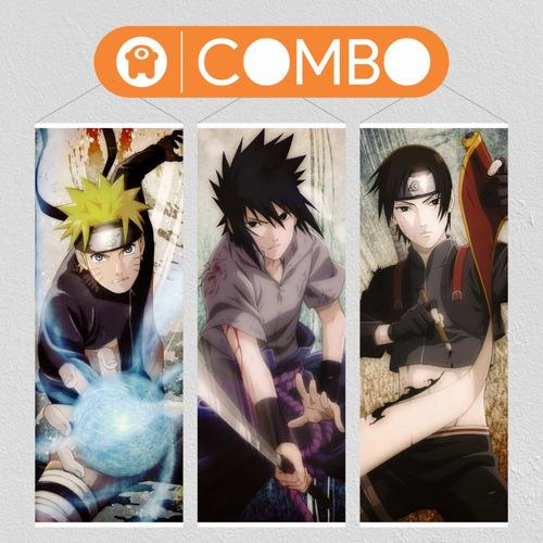Imagen 1 de 6 de Lonas De Naruto Equipo 7 X 3 - Animeras