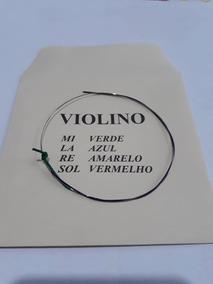 5 Cordas Mi Para Violino 4/4 Avulsa Mauro Calixto ***