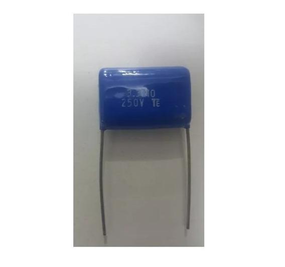 100 Capacitor Poliester 3m3 - 3,3uf X 250v P/ Tweeter Filtro