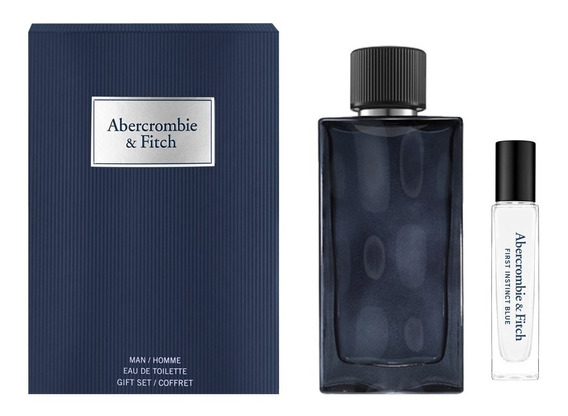 Abercrombie & Fitch Instinct Men Blue Kit - Eau De Toilette + Travel Size Kit