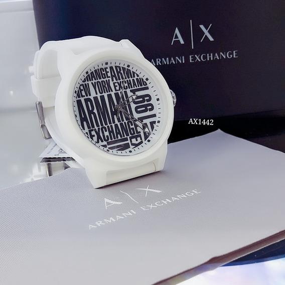 Relógio Masculino Armani Branco Silicone - Ax1442