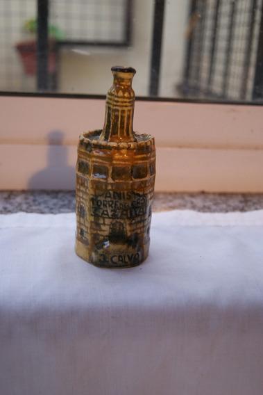 Antigua Botella Miniatura Anis Del Oro