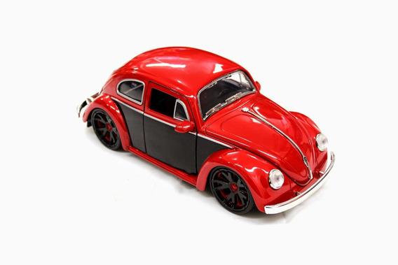 Miniatura Vw Beetle Fusca 1959 Bigtime Kustoms 1:24 Vermelho
