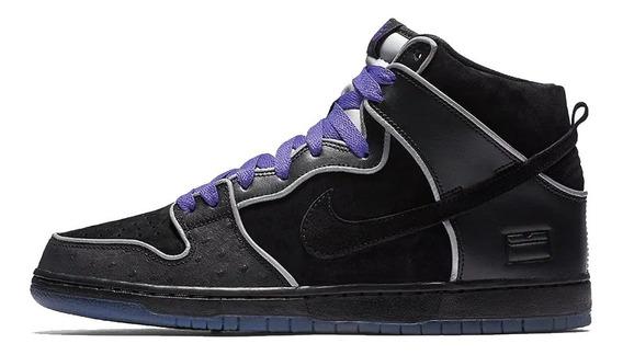 Tênis Nike Dunk Sb High Black Purple,pronta Entrega