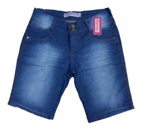 Short Jeans Feminino Plus Size Hot Pants C/lycra 44/54
