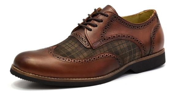 Sapato Masculino Social Oxford Couro Tamanho Especial 68141