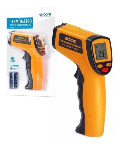 Termometro Laser Digital Infravermelho Temperatura º C E Fº Mercado Livre Termometro digital infrarrojo de frente portatil laser. termometro laser digital infravermelho temperatura º c e fº r 219 99