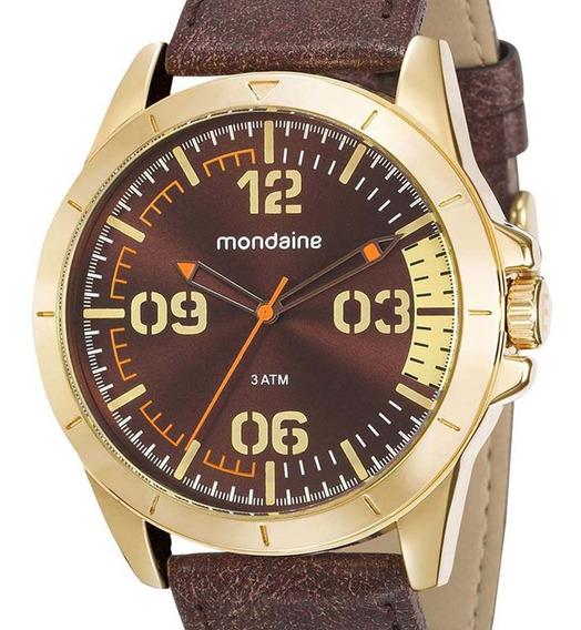 Relógio Mondaine Masculino Dourado 76702gpmvdh1 + Nf-e