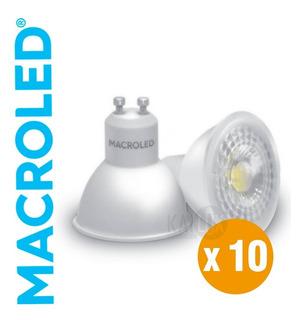 Pack X10 Lamparas Dicroicas Led Gu10 7w Macroled 220v
