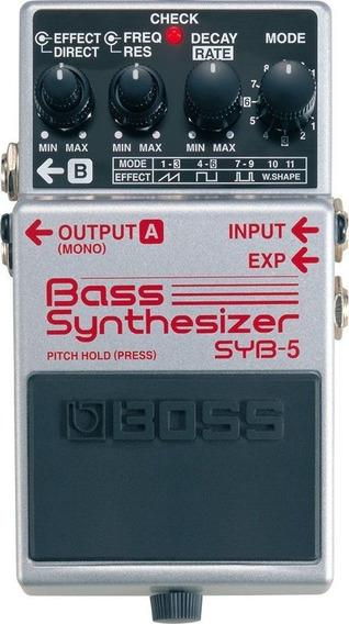 Pedal Boss Syb-5 Bass Synthesizer Garantia 1ano E Nf-e Syb 5