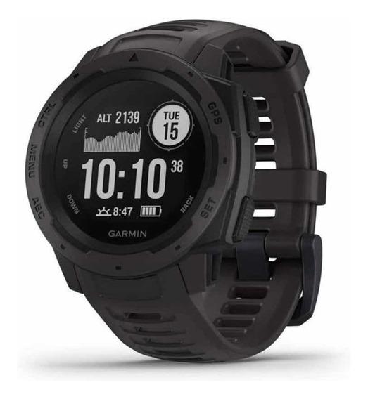 Relógio Gps Garmin Instinct Graphite Smart Cardio Lacrado