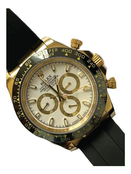 Reloj Rolex Daytona Caucho Automático Con Caja