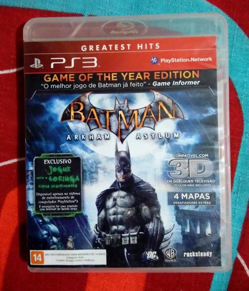 Jogo Ps3 Batman Arkham Asylum - Aceito Negociar