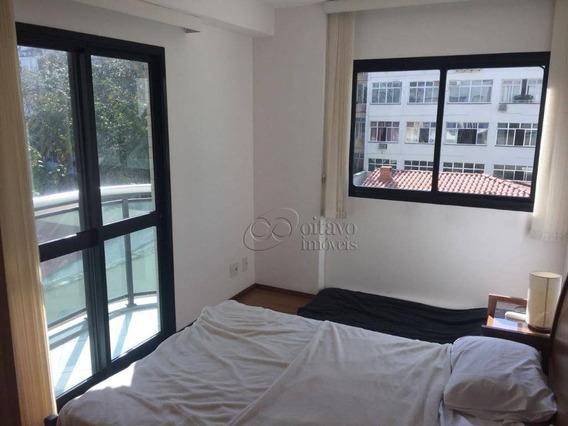 Flat Com Vista Mar De 2 Dormitórios Para Alugar, 74 M² Por R$ 4.000,00/mês - Ipanema - Rio De Janeiro/rj - Fl0224
