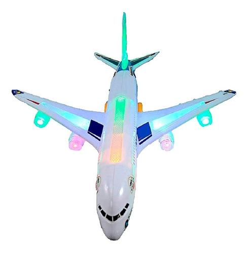 Avión Juguete Comercial Pasajeros Con Luces Y Sonidos Niños