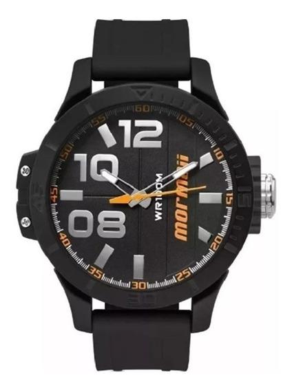 Relógio Masculino Mormaii Preto Silicon Original Mo2035ie/8l