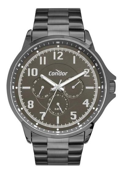Relógio Masculino Condor Co6p29ji/4c 46mm Aço Grafite