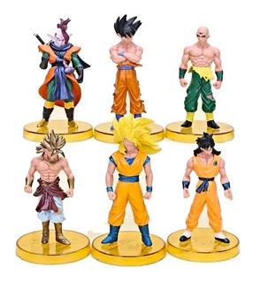 Colección Figuras Dragon Ball Z X6 13cm Base Broly Goku Yamc