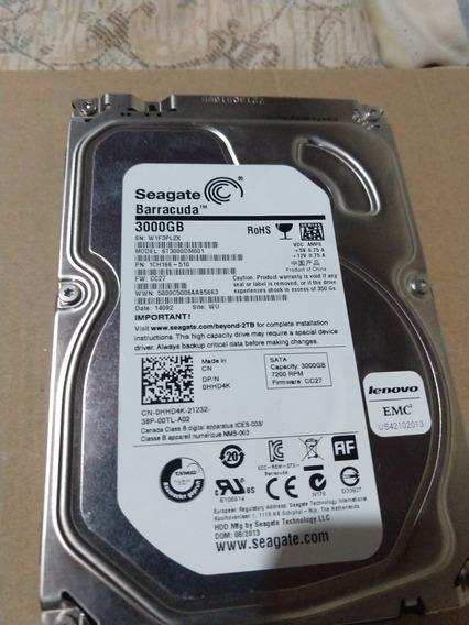 Hd Seagate St3000dm001 3tb 3000gb 64mb Praticamente Novo