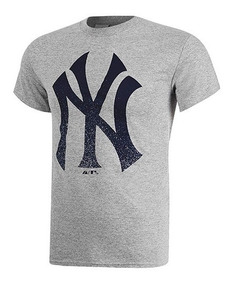 Playera Majestic Casual Yankees Hombre Pol Gris 10624 Dtt