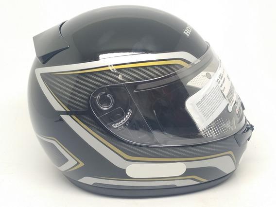 Capacete Honda Hfs Fechado - Titan Carbon Ed 25 Anos