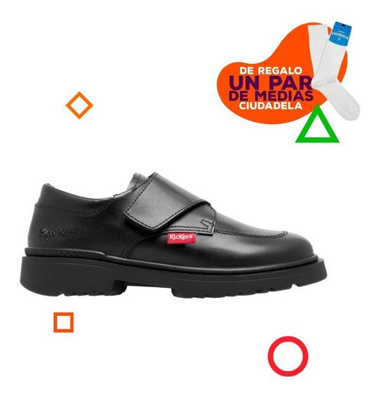 Zapatos Kickers Kool Con Abrojo De Niños 35 Al 38
