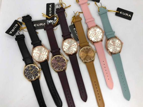 10 Relógios Eura Ponteiro + Caixinha Simples + Atacado + Revenda