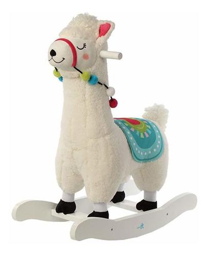 Baby Rocking Horse, Alpaca Blanca Baby Rocking Horse, Juguet