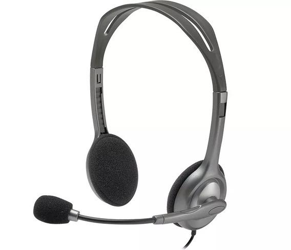 Fone De Ouvido P2 Microfone Headset Logitech H110 Liquidação
